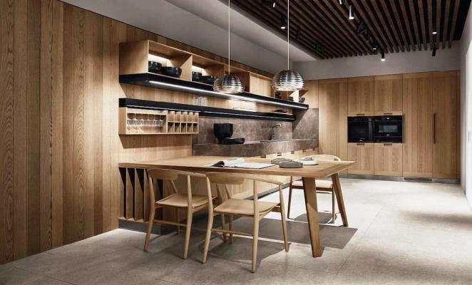 Cucina in open space Principia Arclinea