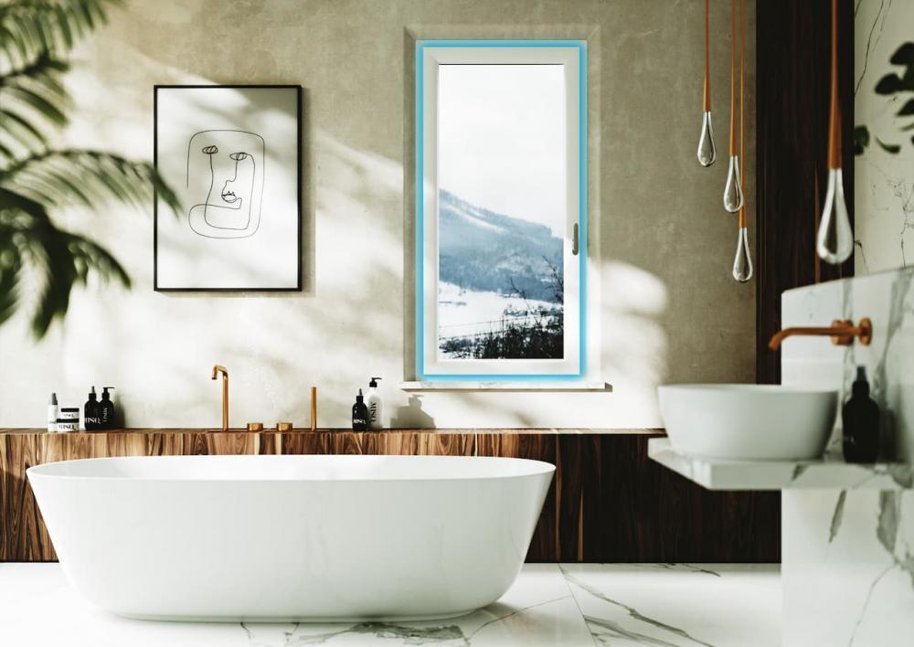 I serramenti microventilati portano fuori anche i vapori del bagno evitando muffe