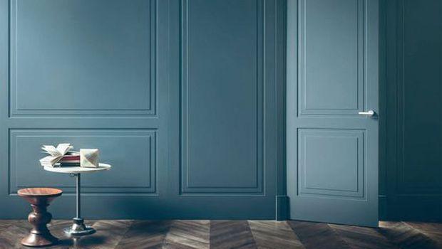 Boiserie con cornici in stile classico moderno