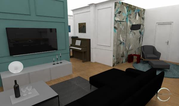Marcos para contener TV - Restyling por Caterina Scamardella Architect