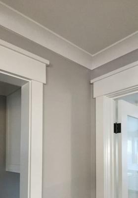 Cornici su porte e finestre completano lo stile classico moderno - Pinterest