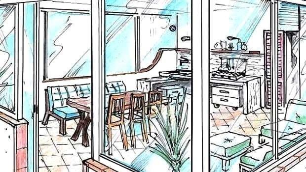 Veranda terrazzo: soluzione progettuale con arredi su misura
