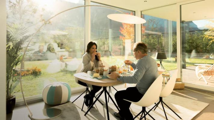 Terrazzo con veranda Cubo Finstral
