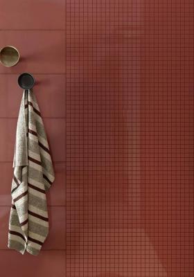 Rivestimenti bagno moderno, Marazzi, dettagli linea Pottery