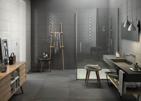 Rivestimenti bagno moderno, Marazzi, modello Pottery