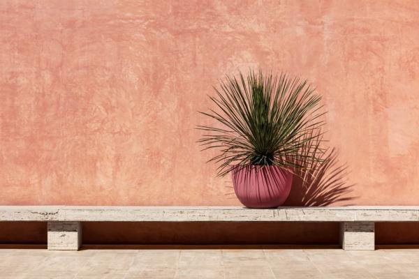 Vaso per esterno fatto in terracotta, Domani, linea Axel