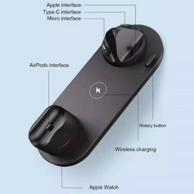 Dettaglio base stazione di ricarica per smartphone e tablet, Samsung