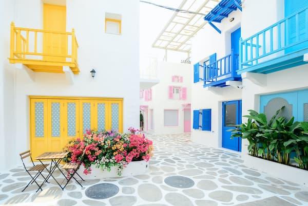El amarillo y el azul juntos son alegría y positividad - Pexels