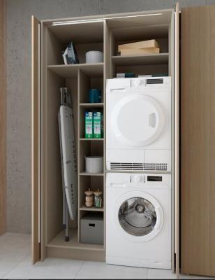 Mobile lavatrice e asciugatrice con ante a scomparsa