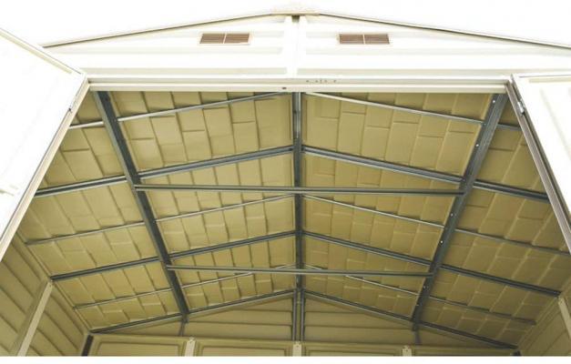 Dettaglio del tetto rinforzato della casetta Duramax