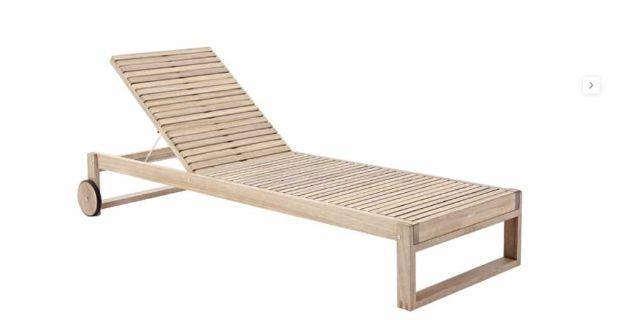 Tumbona Solaris fabricada íntegramente en madera