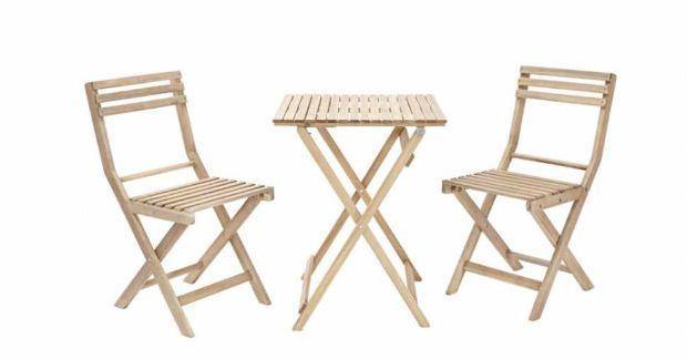 Set Naterial en legno d'acacia