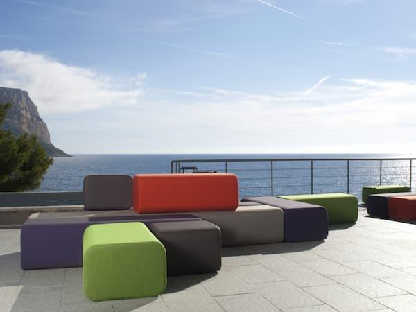 Sofás de jardín modulares Bflex de Marine Peyre Editions