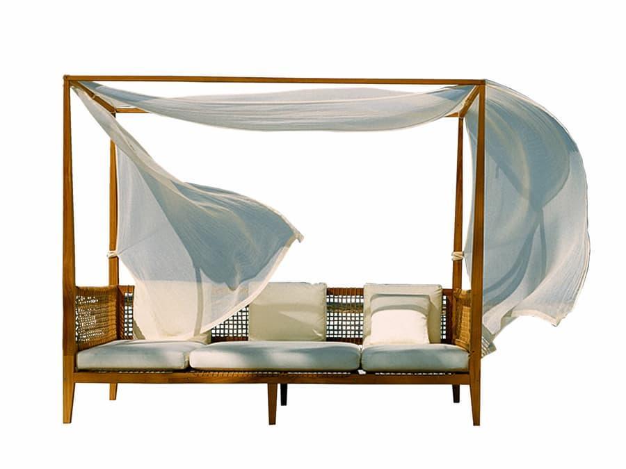 Non può mancare nel giardino uno spazio per il relax e le dormite - Unopiù