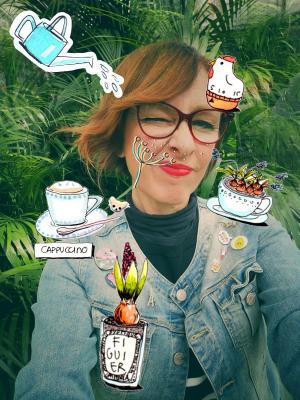 La garden designer Dana Frigerio