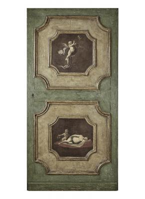 Porta dipinta veneziana settecentesca a due battenti, by Porte del Passato
