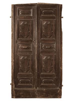 Porta toscana in noce della prima metà del '700, by Porte del Passato