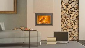 Comfort e design del termocamino a legna