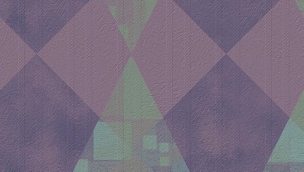 Rhomboidal geometries to paint the walls