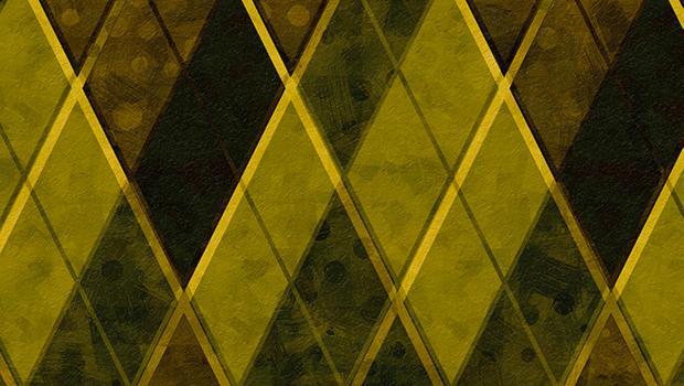 Rhomboid geometric paintings
