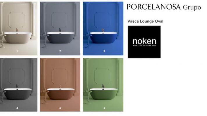 Vasche Lounge colorate, Finish Studio - Foto: Noken, PORCELANOSA Group