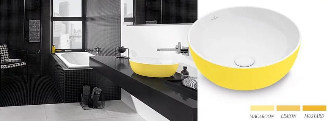 Lavabo giallo Artis - Foto: Villeroy & Boch