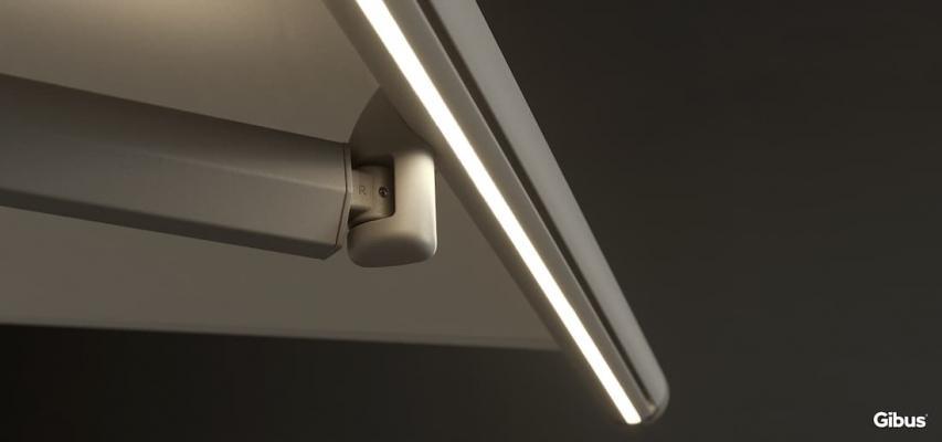 Illuminazione LED tenda da esterni Spazio - Foto: Gibus