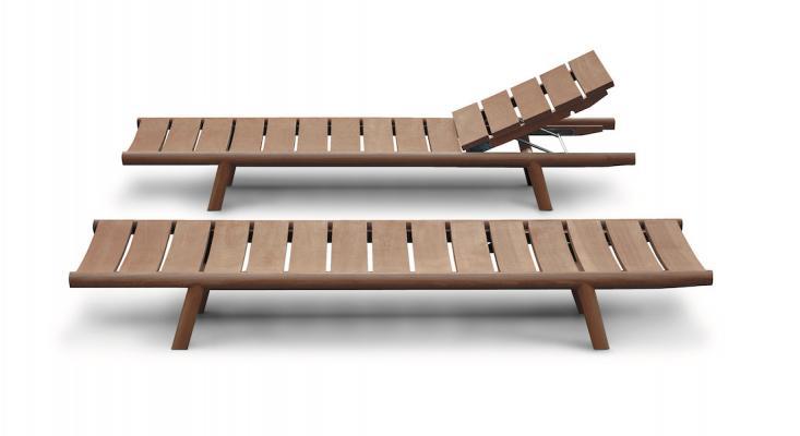 Lettini in legno di teak ORSON - Foto: RODA