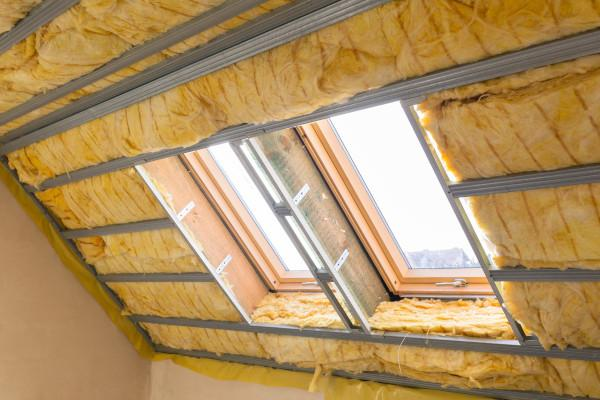 Thermal insulation roof covering performed inside