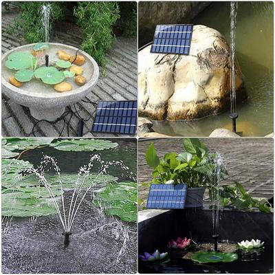 Vari tipi di soluzione con la fontana solare