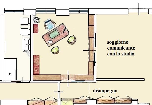 Sala de estudio - plano de planta