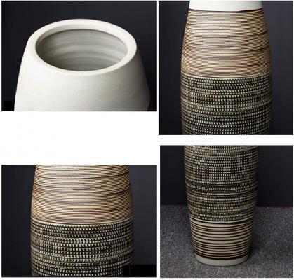 Dettagli vaso in ceramica da terra