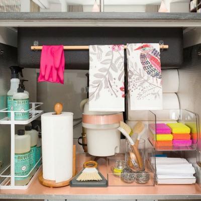 Organizzare il sotto lavello, da parential.com