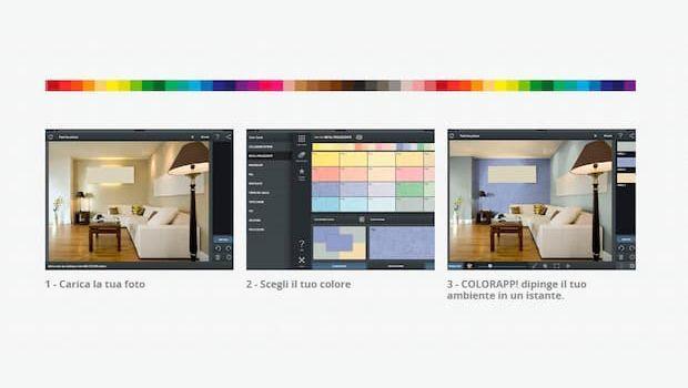 Simulare un nuovo colore alle pareti con un'App!