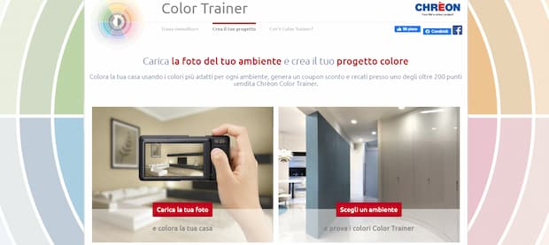 Simulatore colore pareti, Color Trainer di Chrèon