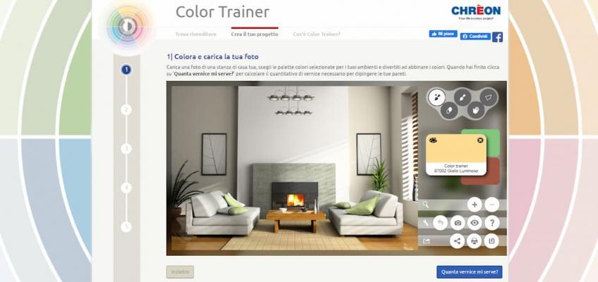 Simulare abbinamenti colori pareti, Color Trainer di Chrèon