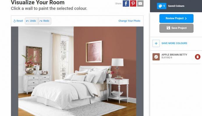 Simulare i vari colori pareti, Dulux colour visualizer
