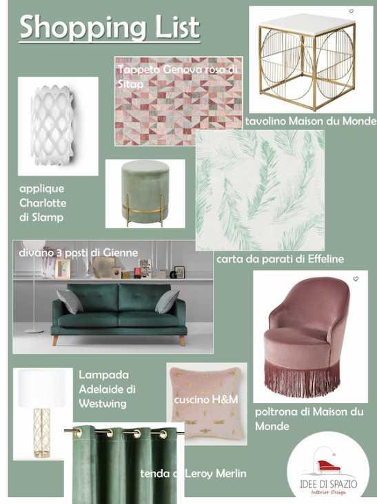 Lista de compras por Interior Design Space Ideas