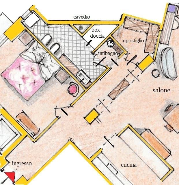 Baño y vestidor - plan plan