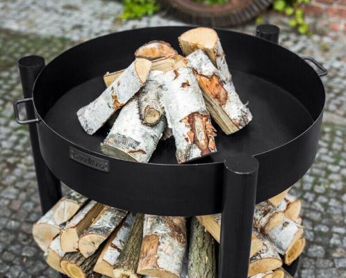 Dettaglio braciere Cook King con porta legna
