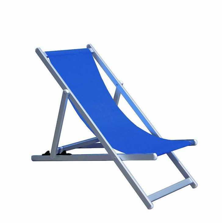 Adjustable aluminum deck chair - Photo: eBay