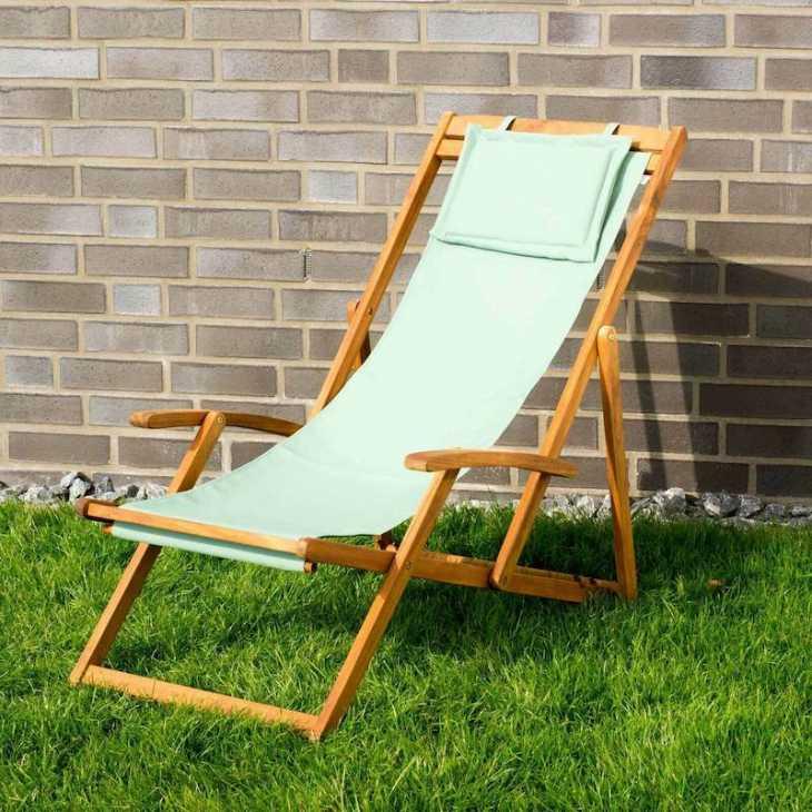 Acacia Wood Witt Deckchair - Photo: eBay
