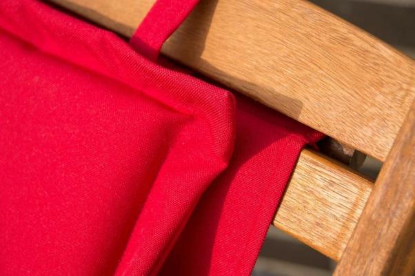 Sdraio Witt in legno di acacia, colore rosso - Foto: eBay