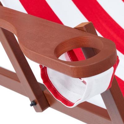 Relaxdays deckchair, drink holder hole - Photo: eBay