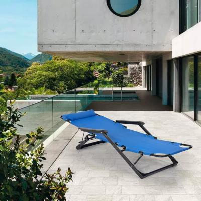 Emily Lux deck chair, blue - Photo: eBay