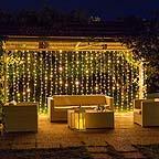 Illuminazione pergolato con tenda luci - Luminal Park