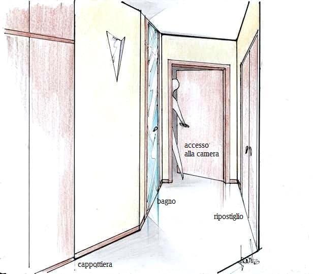 Apartamento de una exposición: pasillo 3D