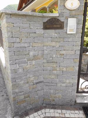 Rivestimento muro di cinta con pietra di Luserna - Beole Marmi Pelganta