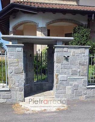 Rivestimento muro di cinta con pietra di Luserna - Pietrarredo
