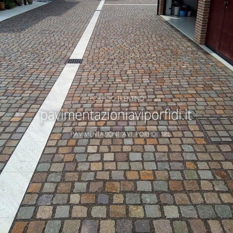 Pavimentazione carrabile in porfido - Pavimentazioni AVI Porfidi